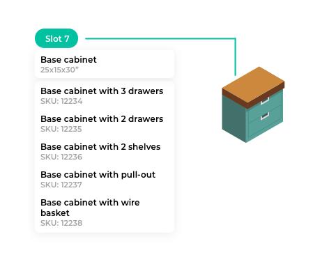 Slot Base Cabinet