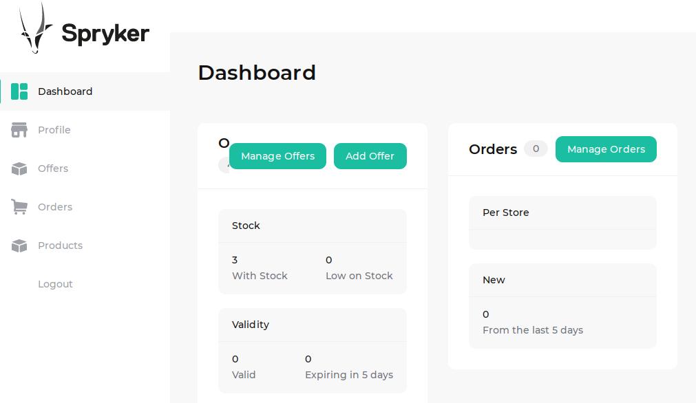 Merchant Portal dashboard