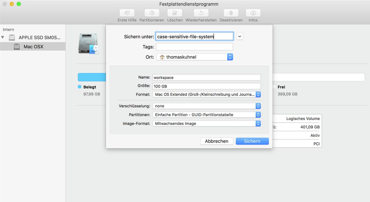 Case sensitive file system