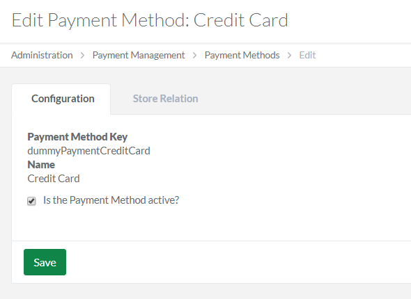 Edit the payment method