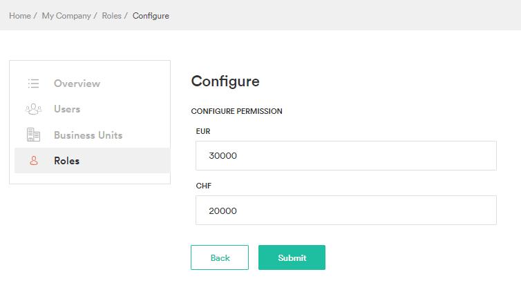 Configure permission buy